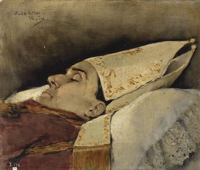 Retrato mortuorio del obispo de Narciso Martínez Izquierdo